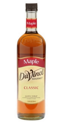 Davinci Syrup Gourmet Sweetener: Maple - 750ml Glass Bottle