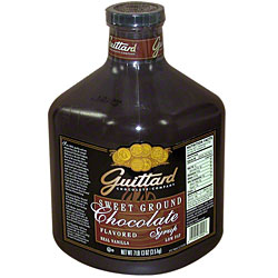 Guittard Sauce: Sweet Ground Chocolate - Case of 90oz Jugs