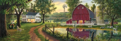The Road Home - 1000pc Panoramic Jigsaw Puzzle by Masterpieces