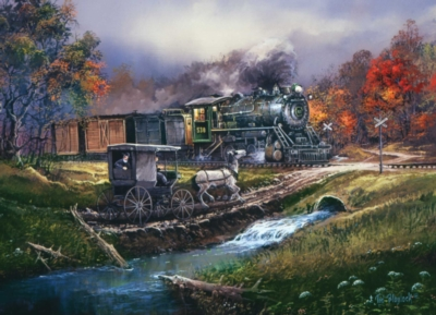 Amish Train - 1000pc Jigsaw Puzzle by Masterpieces