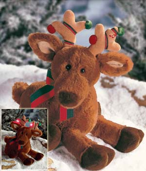 Ridlay With Sound And Lights - 12'' Reindeer By Gund