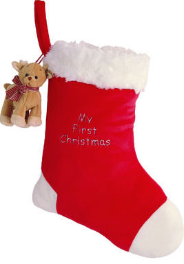 Aboo Photo Stocking with Ornament - 12.5'' Reindeer by Gund