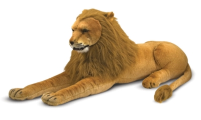 """Lion - 60"""" Head to Tail, Laying Plush Lion by Melissa & Doug"""