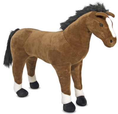 """Horse - 30"""" Tall, Standing Plush Horse by Melissa & Doug"""