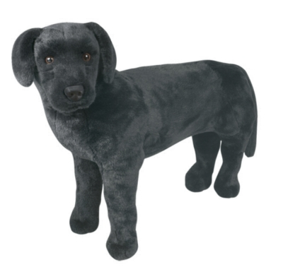 "Black Lab - 24"" Tall, Standing Plush Dog by Melissa & Doug"