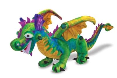 "Dragon - 40"" Head to Tail, Plush Dragon by Melissa & Doug"