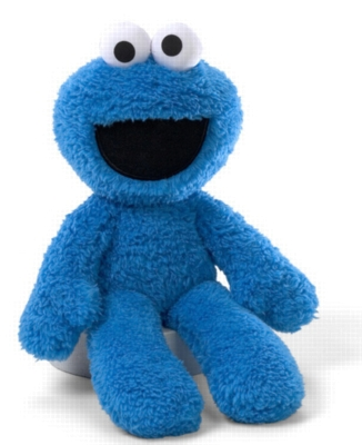 "Take Along Cookie Monster - 13"" Sesame Street By Gund"