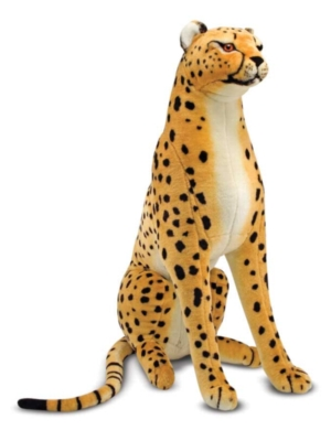 "Cheetah - 33"" Tall, Sitting Plush Cheetah by Melissa & Doug"