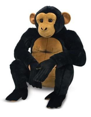 "Chimpanzee - 22"" High, Sitting Plush Ape by Melissa & Doug"