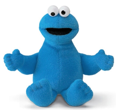 "Cookie Monster Beanbag - 6"" Sesame Street By Gund"