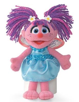 """Abby Beanbag - 6"""" Sesame Street By Gund"""