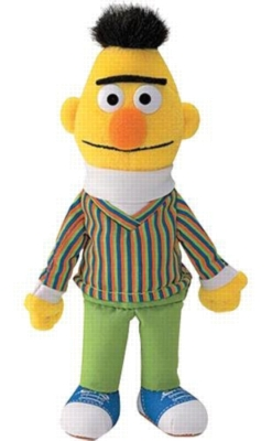 "Bert Beanbag - 7"" Sesame Street By Gund"