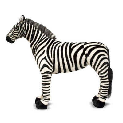 "Zebra - 30"" Tall, Standing Plush Zebra by Melissa & Doug"