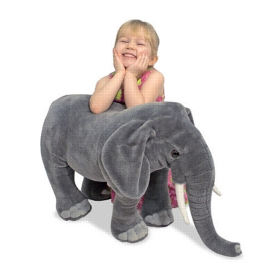 """Elephant - 33"""" Head to Tail, Plush Elephant by Melissa & Doug"""