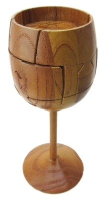 Wooden Assembly Puzzles - Wine Glass