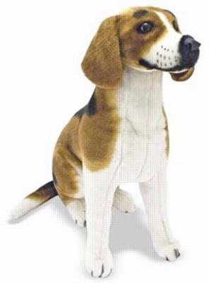 Beagle - 19'' High, Sitting Plush Dog by Melissa & Doug