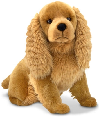 "Cocker Spaniel - 21"" High, Sitting Plush Dog by Melissa & Doug"