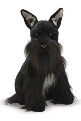 "Miniature Schnauzer - 20"" High, Sitting Plush Dog by Melissa & Doug"