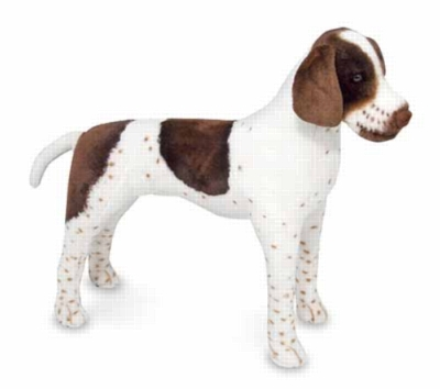 """German Shorthaired Pointer - 36"""" Head to Tail, Plush Dog by Melissa & Doug"""