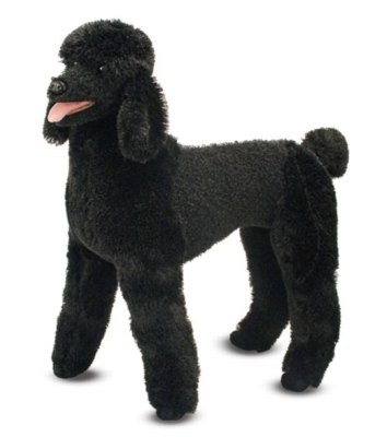 """Standard Poodle - 26"""" Tall, Standing Plush Dog by Melissa & Doug"""