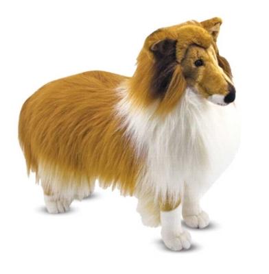 "Shetland Sheepdog - 22"" Tall, Standing Plush Dog by Melissa & Doug"