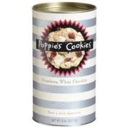 Poppie's Cookies - 8oz Canister - Cranberry White Chocolate