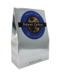 Poppie's Cookies - 3oz Silver Box - Chocolate Chunk