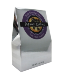 Poppie's Cookies - 3oz Silver Box - Chocolate Lace