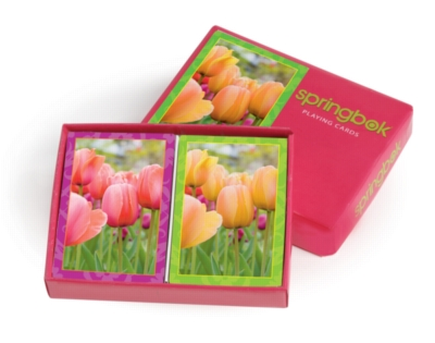 Tulips - Double Deck Jumbo Index Playing Cards by Springbok
