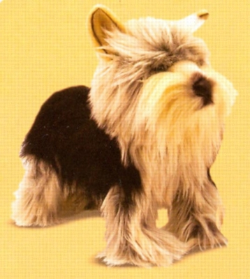 """Yorkshire Terrier - 9"""" Tall, Standing Plush Dog by Melissa & Doug"""