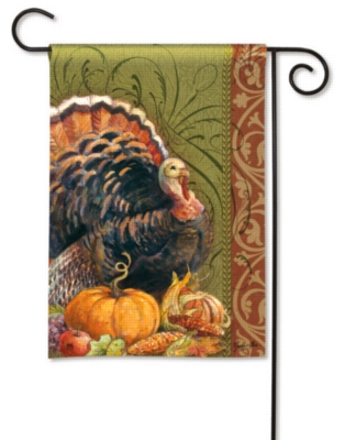 Thanksgiving Greeting - Garden Flag by Magnet Works