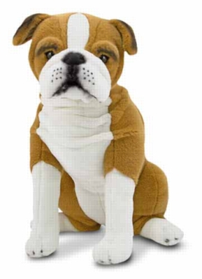 "English Bulldog - 21"" High, Sitting Plush Dog by Melissa & Doug"