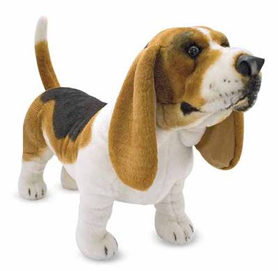 Basset Hound - 30'' Head to Tail, Plush Dog By Melissa & Doug