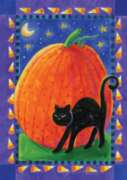 Pumpkin & Cat - Garden Flag by Toland