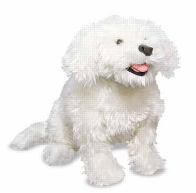 Bichon Frise - 15'' High, Sitting Plush Dog by Melissa & Doug