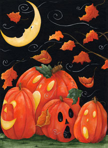 Scary Night - Standard Flag by Toland