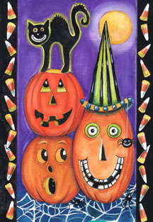 Pumpkin Party - Standard Flag by Toland