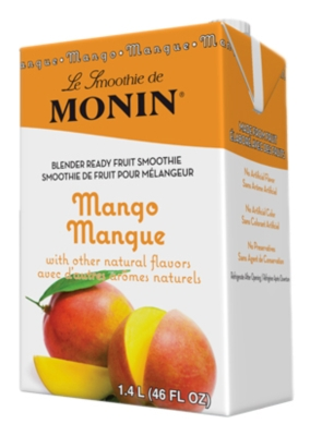 Monin Pour-Over Fruit Smoothies: 46oz Carton