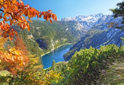 Jigsaw Puzzles - Navy Blue Lake in the Alps