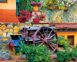 Springbok Jigsaw Puzzles - Colorful Courtyard