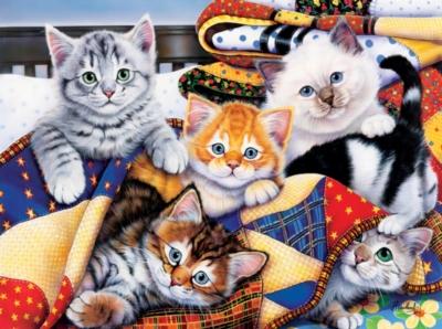 Jigsaw Puzzles - Cozy Kittens