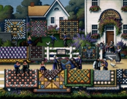 Dowdle Jigsaw Puzzles - Amish Quilts
