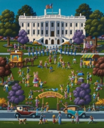 Dowdle Jigsaw Puzzles - Easter Egg Roll