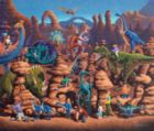 Dinosaur Games - 50pc Jigsaw Puzzle by Dowdle