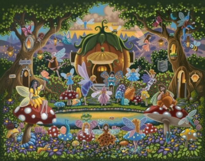 Dowdle Jigsaw Puzzles - The Fairy Family