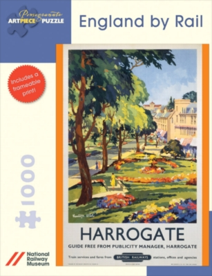 England By Rail: Harrogate - 1000pc Jigsaw Puzzle by Pomegranate