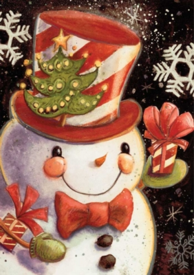 Snowflake Snowman - Standard Flag by Toland