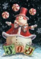 Peppermint Snowman - Standard Flag by Toland