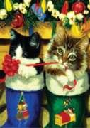 Stocking Kittens - Garden Flag by Toland