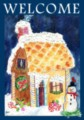 Gingerbread Welcome - Standard Flag by Toland